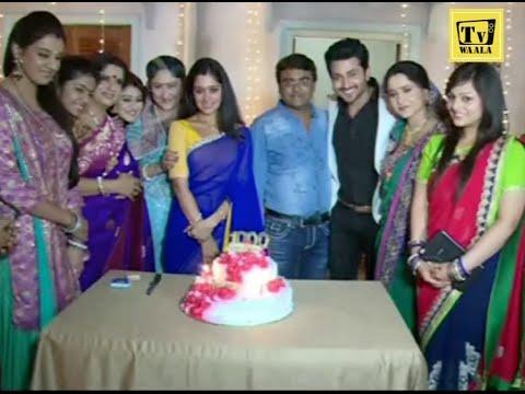 Cake cutting Celebration of 1000 Episode | Sasural Simar Ka | Dheeraj Dhoopar, Deepika Samson