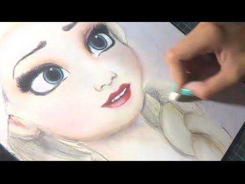 Speed Drawing Elsa Frozen Diana Diaz