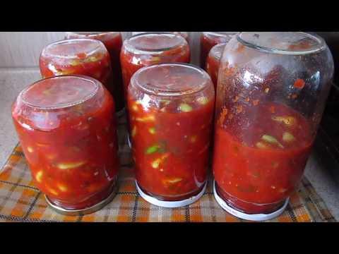 закатать огурцы в томатном соусе удобной