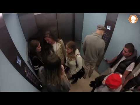 Bad Grandpa In A Lift Prank