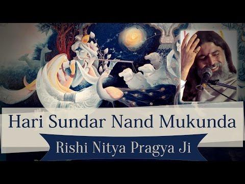 The Most Beautiful Krishna Bhajan by Rishi Nitya Pragya Ji |  Hari Sunder Nand Mukunda