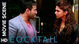 Deepika fakes to be pregnant with Saif's baby | Cocktail | Movie Scene