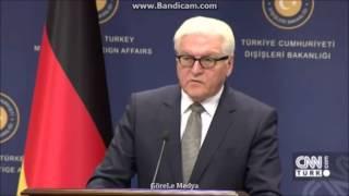 Türkiye Almanya gergin basın toplantısı