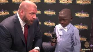 Jarrius takes over WWE WrestleMania media day