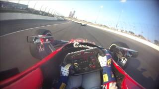 VISOR CAM: Graham Rahal at Texas Motor Speedway