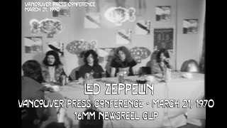 led zeppelin vancouver 1970 press conference 16mm rare film clip