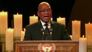 Zuma sings controversial song at Mandela funeral