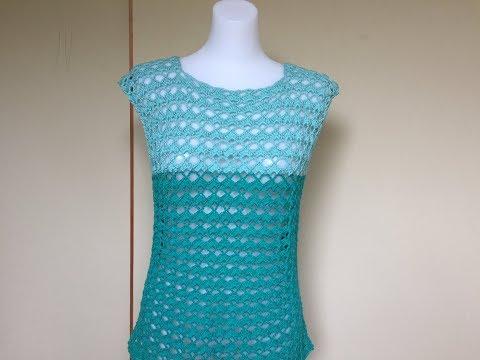 Xxx Mp4 Crochet Tutorial Green Summer Blouse Top For Beginners 3gp Sex