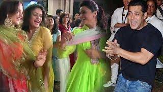 Salman Khan Dances With Elli Avram, Daisy Shah @ Ganesh Visarjan Miraunuk 2015