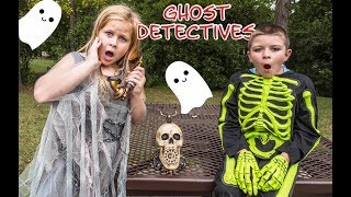 PJ MASKS Disney Ghost Hunters Hunt ForSpooky Candy with Ryan the Batboy