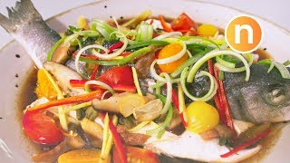 Teochew Steamed Fish  Steamed with Pickled Vegetables and Pickled Plums  潮州式蒸鱼 Nyonya Cooking uploaded on 3 month(s) ago 12718 views