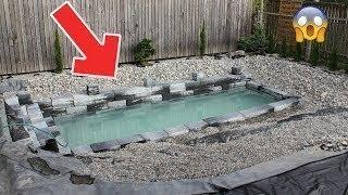 أعتقدوا أنه يقوم ببناء مسبح صغير ولكن عندما ملؤه بالمياه أصيبوا بالدهشة !!