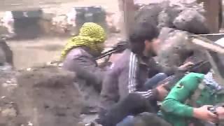 أشتباكات في مدينة الصنمين الجيش الحر و قوات النظام