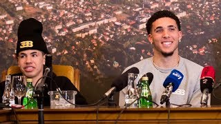 LiAngelo Ball CURVES Lithuanian Reporter Trying to Get the 'D' During Press Conference