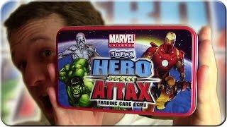 Hero Attax Sammeldose TIN Booster Unboxing  Marvel Universe
