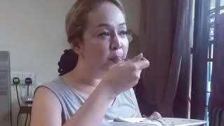 Satu pinggan Talam Gula Melaka habis dimakan Jasmin Hamid,lapar betul ni