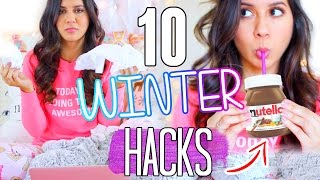10 Winter Life Hacks You NEED To Try!! 2016