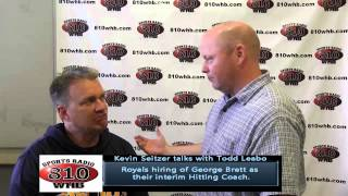 Kevin Seitzer talks with Todd Leabo