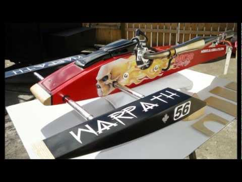 Misty Creek Boats Warpath Rigger Pictures RCMK MGB Kit Gas RC boat