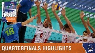 2015 Men's EuroVolley - Highlights Quarterfinals Slovenia vs Poland
