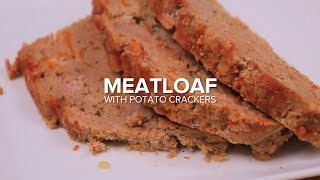 Meatloaf With Potato Crackers