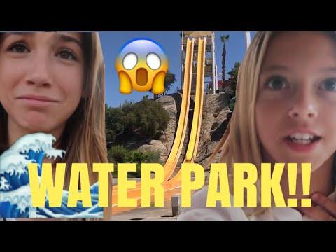 WATERPARK water slide FLOWRIDER wipe out Swimming Palm Springs Quinn Sisters