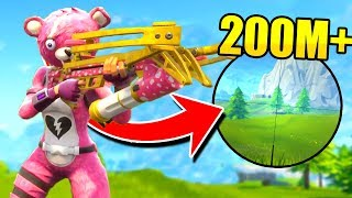 *EPIC* 200M+ Crossbow Shot! (Fortnite Battle Royale)