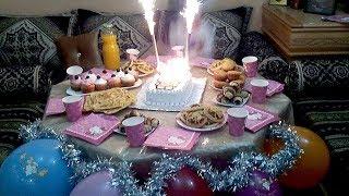 حضرو معي مائدة عيد ميلاد بنتي  بسيطة سريعة وغير مكلفة