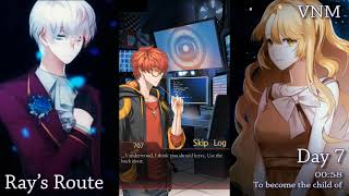 Day 7, Chat 1(00:58)【RAY ROUTE】-MYSTIC MESSENGER-