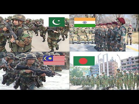 watch Pakistan & Malaysia VS India & Bangladesh Military Power Comparison 2016-2017