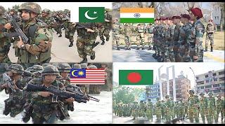 Pakistan & Malaysia VS India & Bangladesh Military Power Comparison 2016-2017