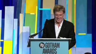 Robert Redford accepting a Gotham Tribute at the 2015 Gotham Independent Film Awards