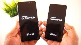 Samsung Galaxy A8 (2018) vs Samsung Galaxy A8 Plus (2018) Speed Test Comparison [Urdu/Hindi]