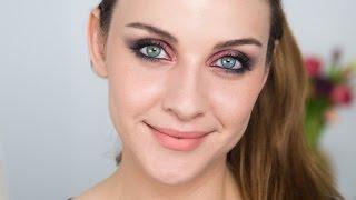 Dumanlı Göz Makyajı | Pembe - Kırmızı Tonlarda