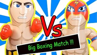 Big BOXING Match !!!  boxer Wrestler Dolphin Dinosaur Rocking Doll Toys