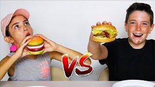 SQUISHY FOOD vs REAL FOOD CHALLENGE!!