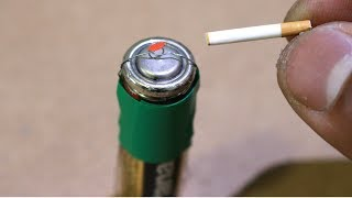 Make A Lighter Out Of AA Battery
