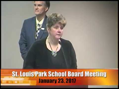 St. Louis Park School Board Meeting 1/23/17