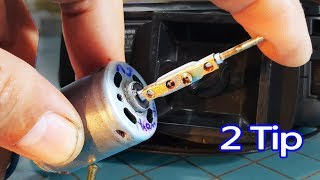 2 tips on homemade chuck drill, How to Make Mini Drill with DC Motor