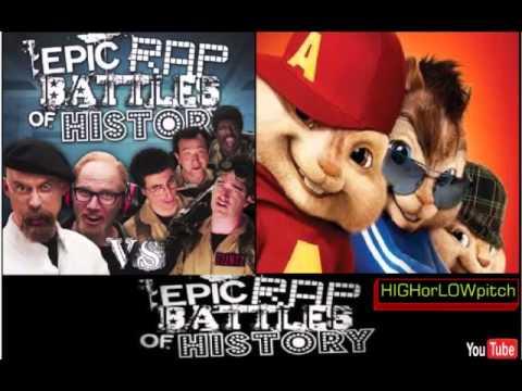 Ghostbusters vs Mythbusters. Epic Rap Battles of History Season 4. CHIPMUNKS' version