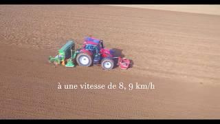 Labour + Semis de blé 2017// X2 Deutz et 1 Valtra/ semoir AMAZONE 3mètres 50