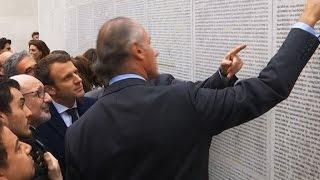 Paris: Macron visite le Mémorial de la Shoah