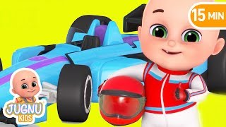 Sports Car   Racing cars for kids   Car toys videos for kids   Kinder surprise eggs by jugnu kids