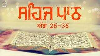 Sehaj Path Ang 26 To 36 | Bhai Sarwan Singh | Fizza Records Gurbani