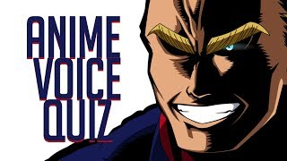 ► ANIME VOICE QUIZ - Guess the character (VO)