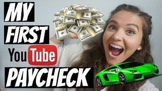 First Youtube Paycheck | How Many Views Do You Need To Get Paid?