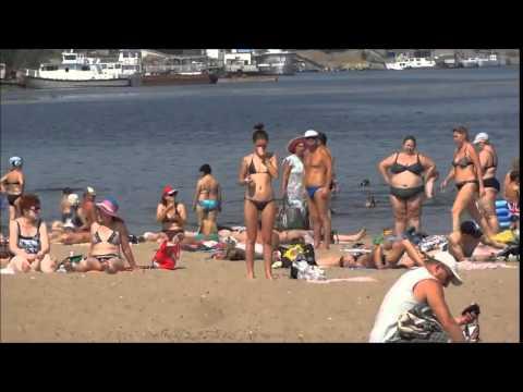 Russians on Beach  Summer 2013