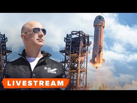 WATCH Blue Origin launch with Jeff Bezos Onboard Live