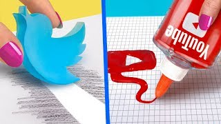 10 DIY Weird School Supplies You Need To Try / Social Media School Supplies