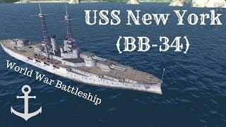 World War Battleship: USS New York (BB-34)